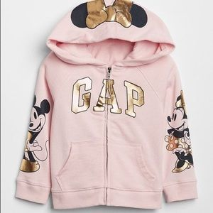 5/40 Deal  Minnie and Mickey Mouse pink hoodie